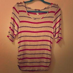 Libian Striped Sweater Top Size 1x